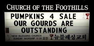 Pumpkin Church Sign
