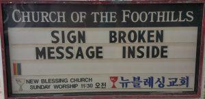 Sign Broken Sign